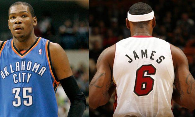Final de la NBA 2012. Oklahoma City Thunder vs Miami Heat. Kevin Durant vs Lebron James. Duelo en las alturas.