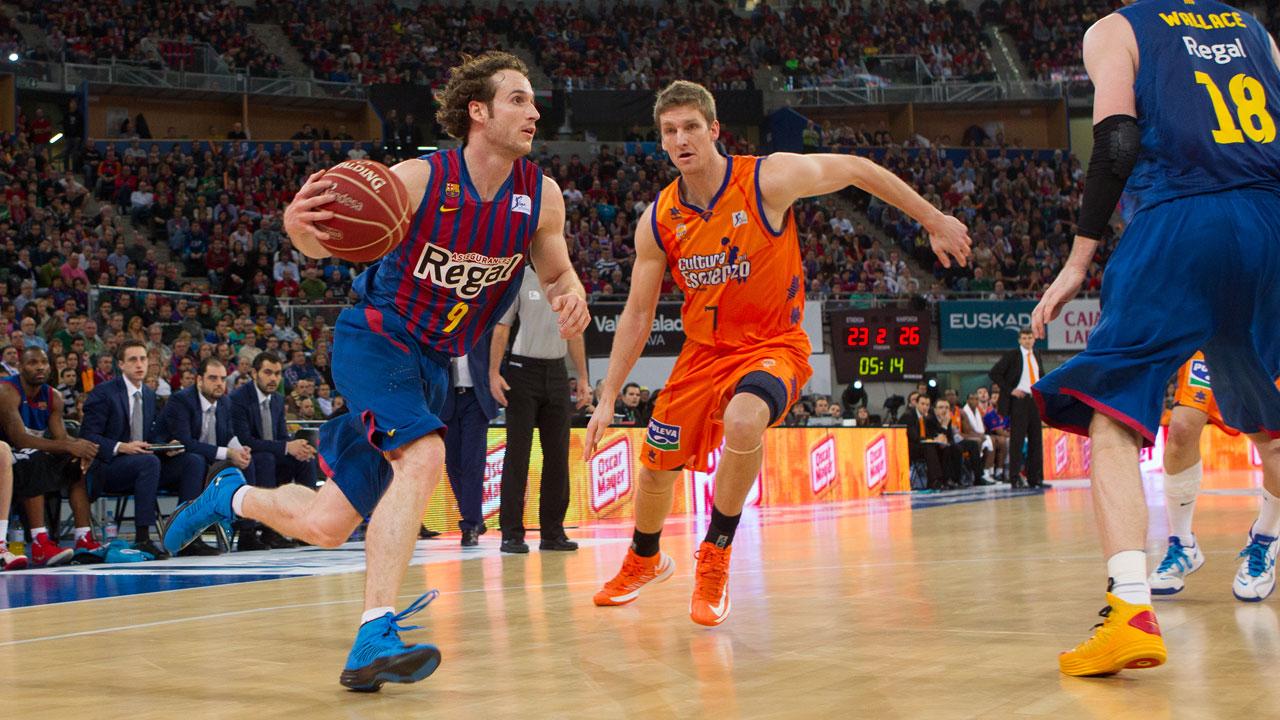 Final Copa del Rey. Barcelona Regal – Valencia Basket. Huertas asiste a ritmo de título