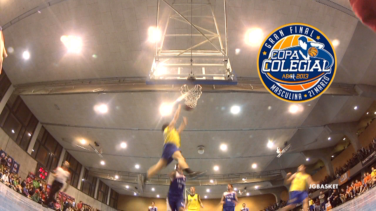 "Video de ""alley oop"" salvaje de Estudio. Final Copa Colegial Madrid 2013"