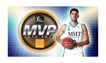 Nikola Mirotic, jugador del Real Madrid,  el MVP más jóven de la historia de la Liga Endesa