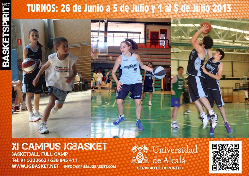 Campus Baloncesto JGBasket. 11ª Edición. Junio – Julio 2013. Universidad de Alcalá. Madrid