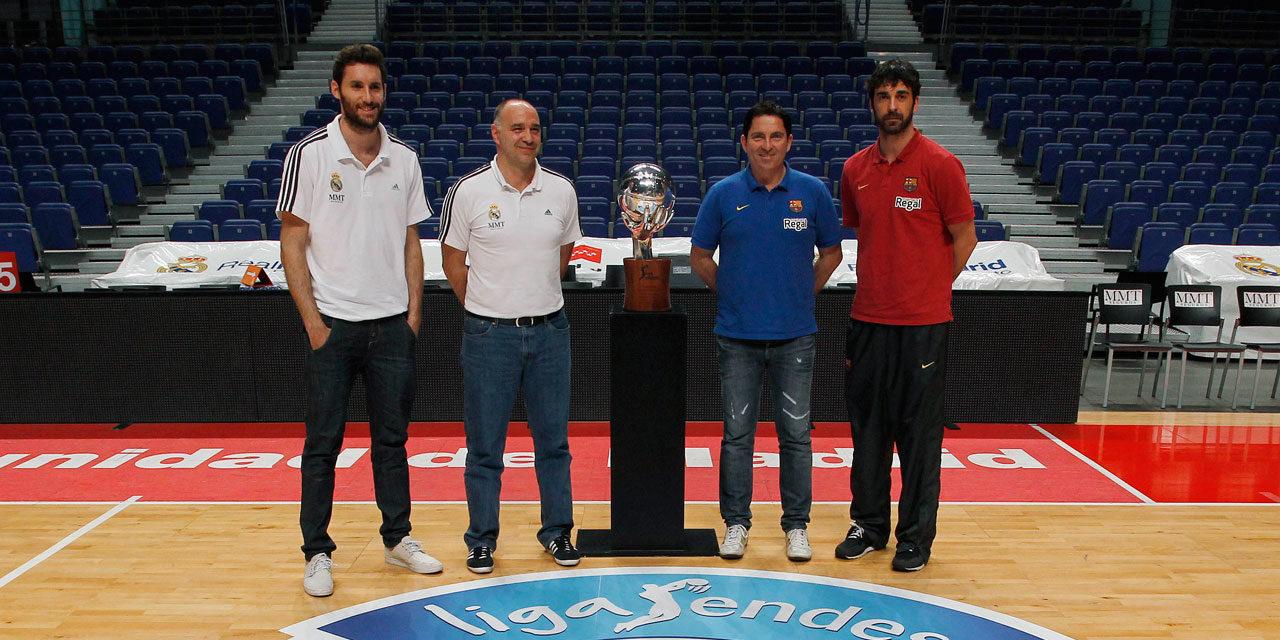 Declaraciones de Rudy Fernández, Navarro, Pablo Laso y Xavi Pascual antes de la final de la Liga Endesa 2013.