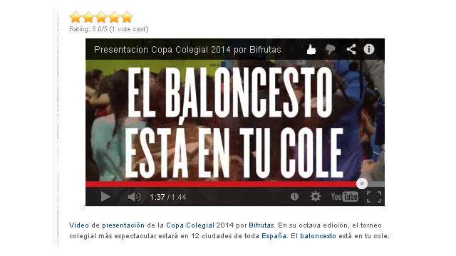 ¡La pasión se contagia! La tradición y la leyenda crece y llegará a 12 ciudades. Copa Colegial 2014 por Bifrutas. Video