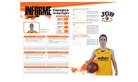 Informe personalizado de jugador. XII Campus JGBasket