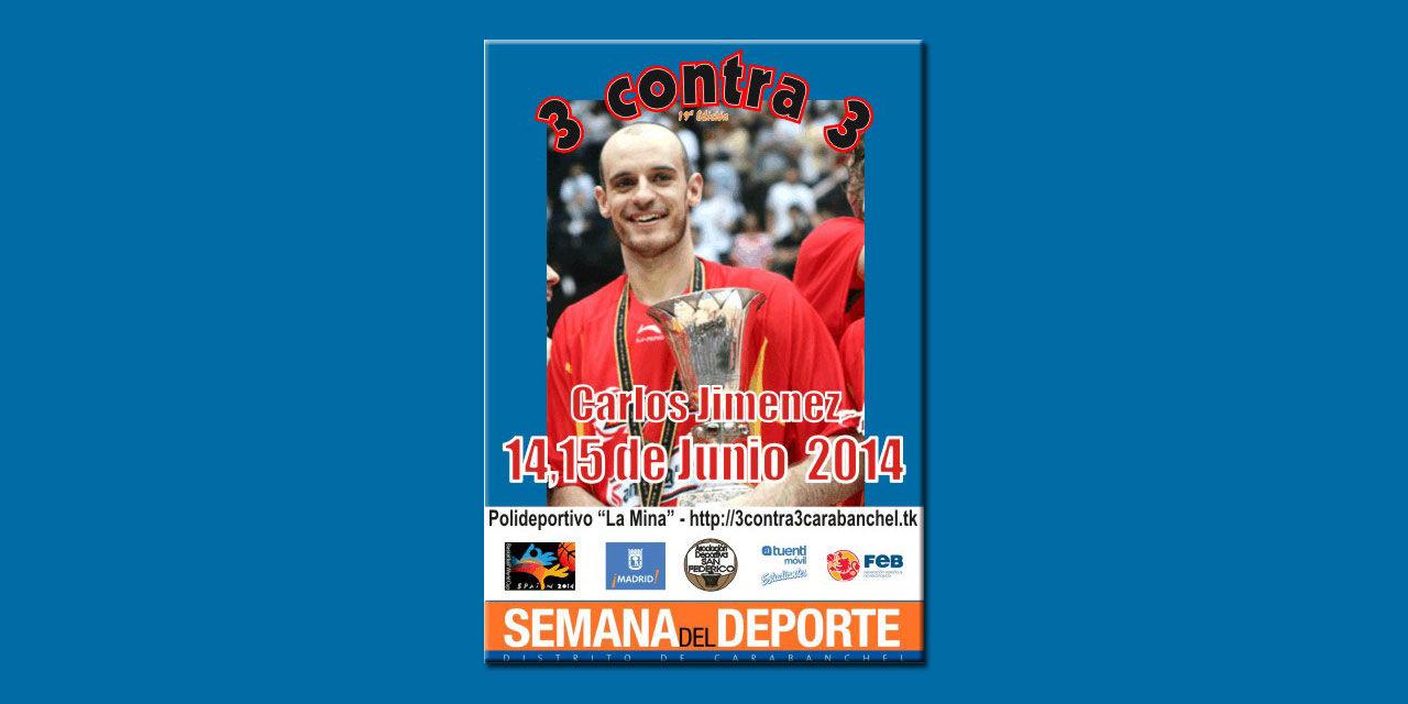 En juego: 3 contra 3 Carlos Jimenez. 14 y 15 de Junio de 2014. Polideportivo La Mina. Carabanchel. Madrid