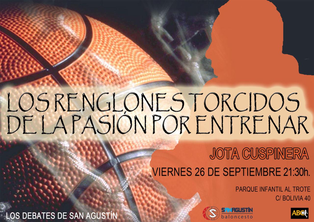 Jota Cuspinera en los Debates de Baloncesto San Agustín. Viernes 26 de Septiembre
