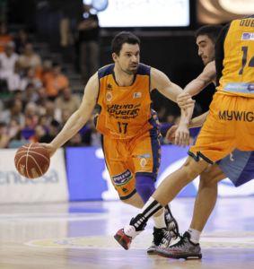 Bloqueo directo. Rafa Martínez. Valencia Basket. ACB