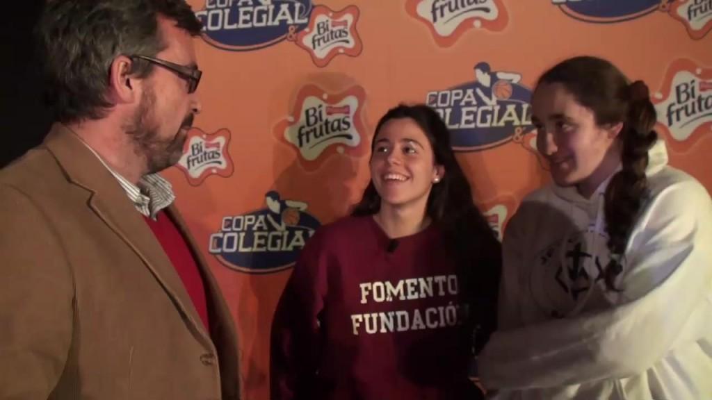 Las ganadoras que se separan. Entrevista a dos protagonistas de la final 2014 de Jesús María. Presentación Copa Colegial Madrid 2015