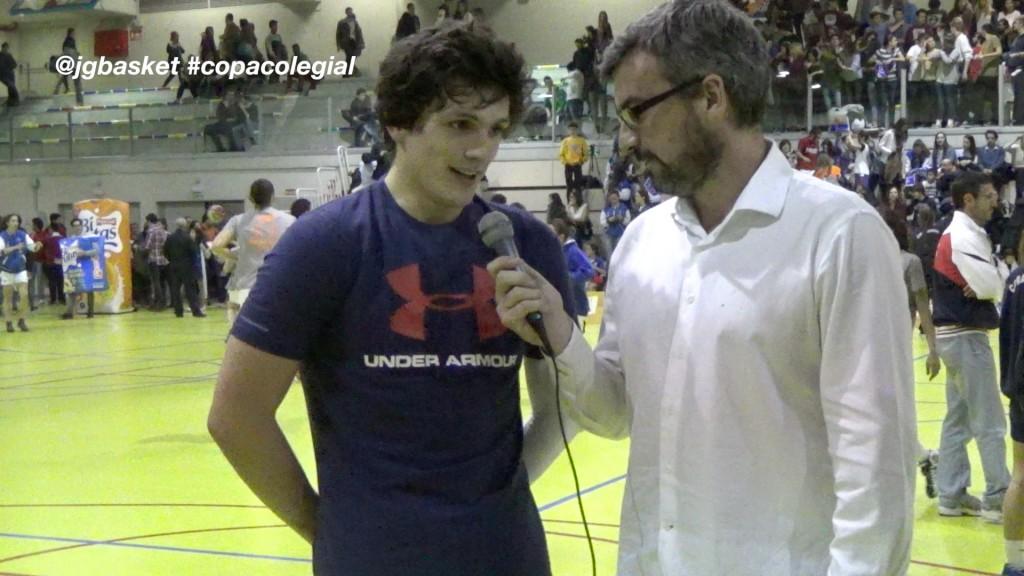 Entrevista a Eduardo Rubio y Roberto Martínez. MVPs Final Copa Colegial Madrid 2015. Fomento Fundación vs Brains