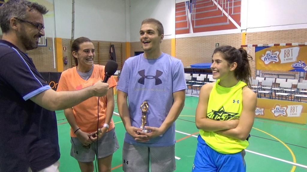 Entrevista a los MVPs y ganadora del Concurso de Triples. Allstar Colegial Madrid 2015