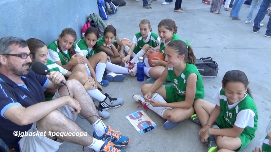 Video táctica: Pasar y cortar. Explicación de jugadora de minibasket de Irlandesas en la PequeCopa