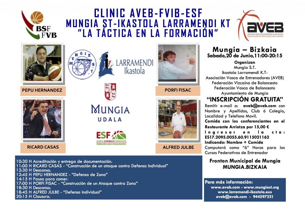 Clinic «La táctica en formación». Sábado 20 de Junio 2015. Mungia. Bizkaia.