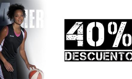 40% de descuento en camiseta y pantalón corto para mujer Spalding en Basketspirit.com