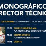 Formación ABC. Monográfico Director Técnico. Sábado 7 Noviembre. Colegio Areteia.