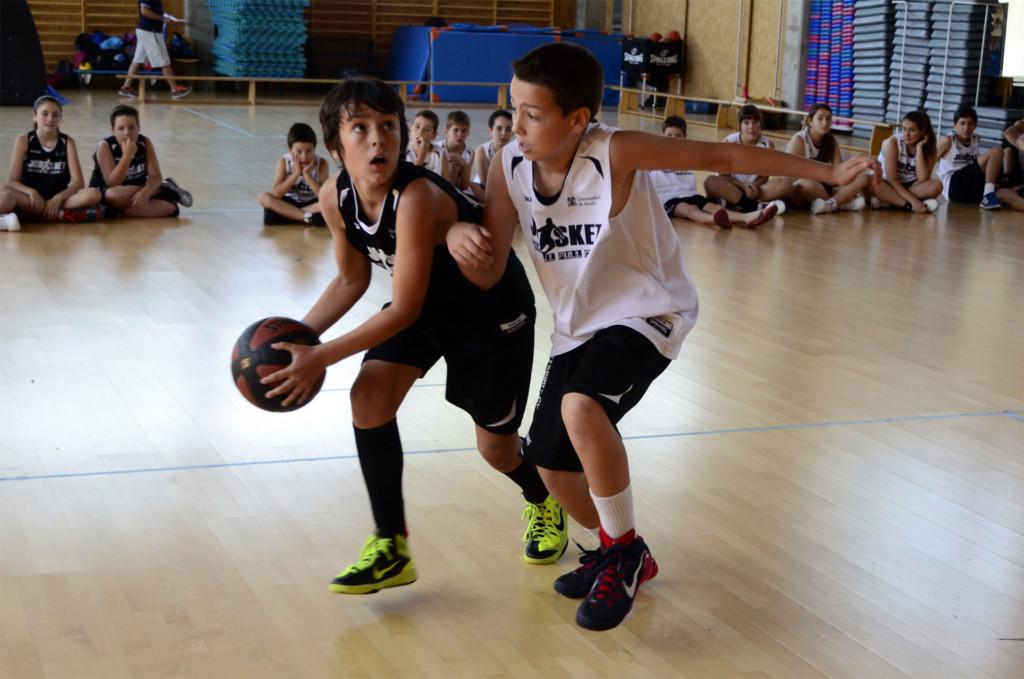 Competición de 1x1 minibasket. Campus JGBasket