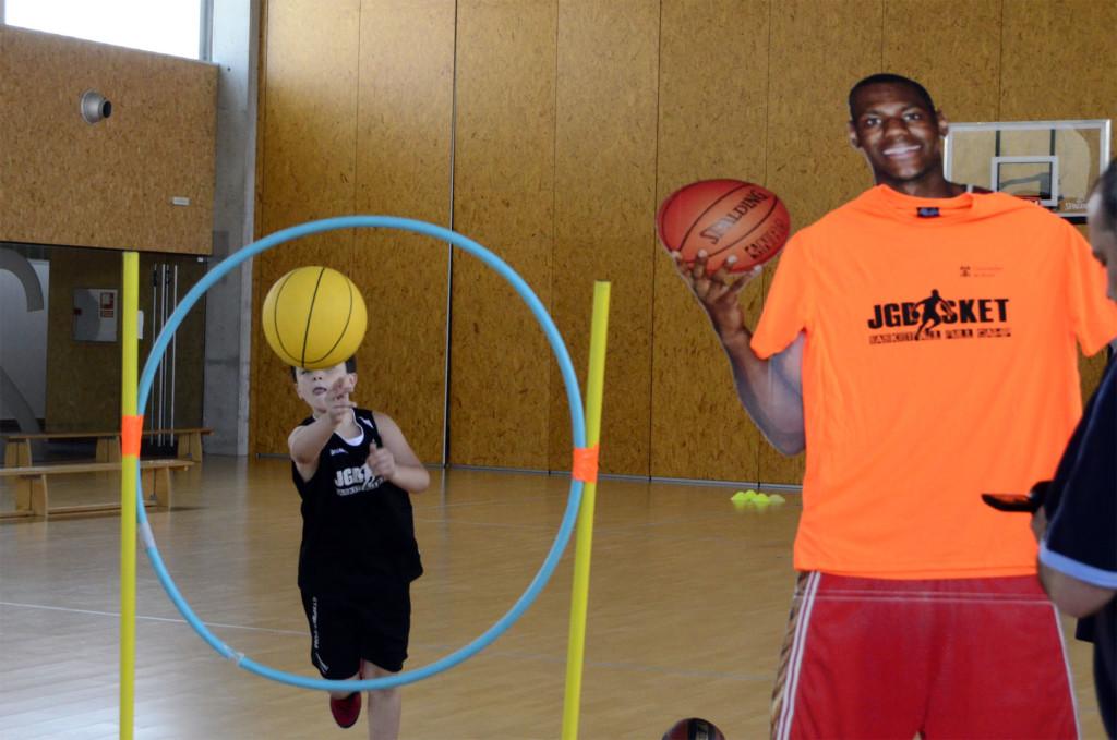 Circuíto puntería baloncesto. Campus JG Basket