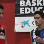Entrevistas a jugadores del partido Agustiniano y Brains. Cuartos de final Copa Colegial Madrid 2017