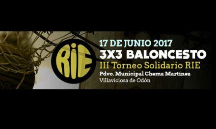 Miércoles 14 de Junio último día para inscribirse. Torneo 3×3 Solidario RIE. Villaviciosa de Odón. Madrid