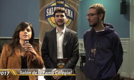 Salón de la fama Baloncesto Colegial. Entrevista a Fran Goñi y Alvaro Merino. Colegio Estudio