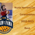 Nuria Herrero. Salón de la Fama Baloncesto Colegial. Clase 2017