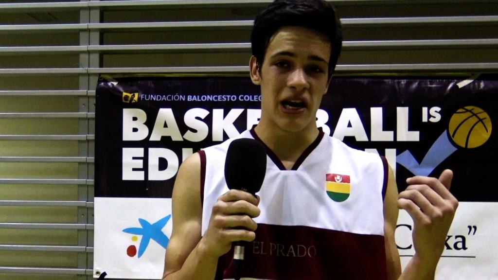 Pablo Buenaventura, jugador de Colegio El Prado nos anima a venir al próximo partido de Copa Colegial