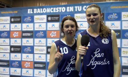 Elena Alaix y Julia De Juan, jugadoras de San Agustín. Copa Colegial Madrid 2018