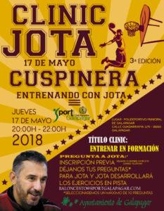 Cartel. Clinic Entrenando con Jota. Sport Club Deportivo Galapagar. 2018