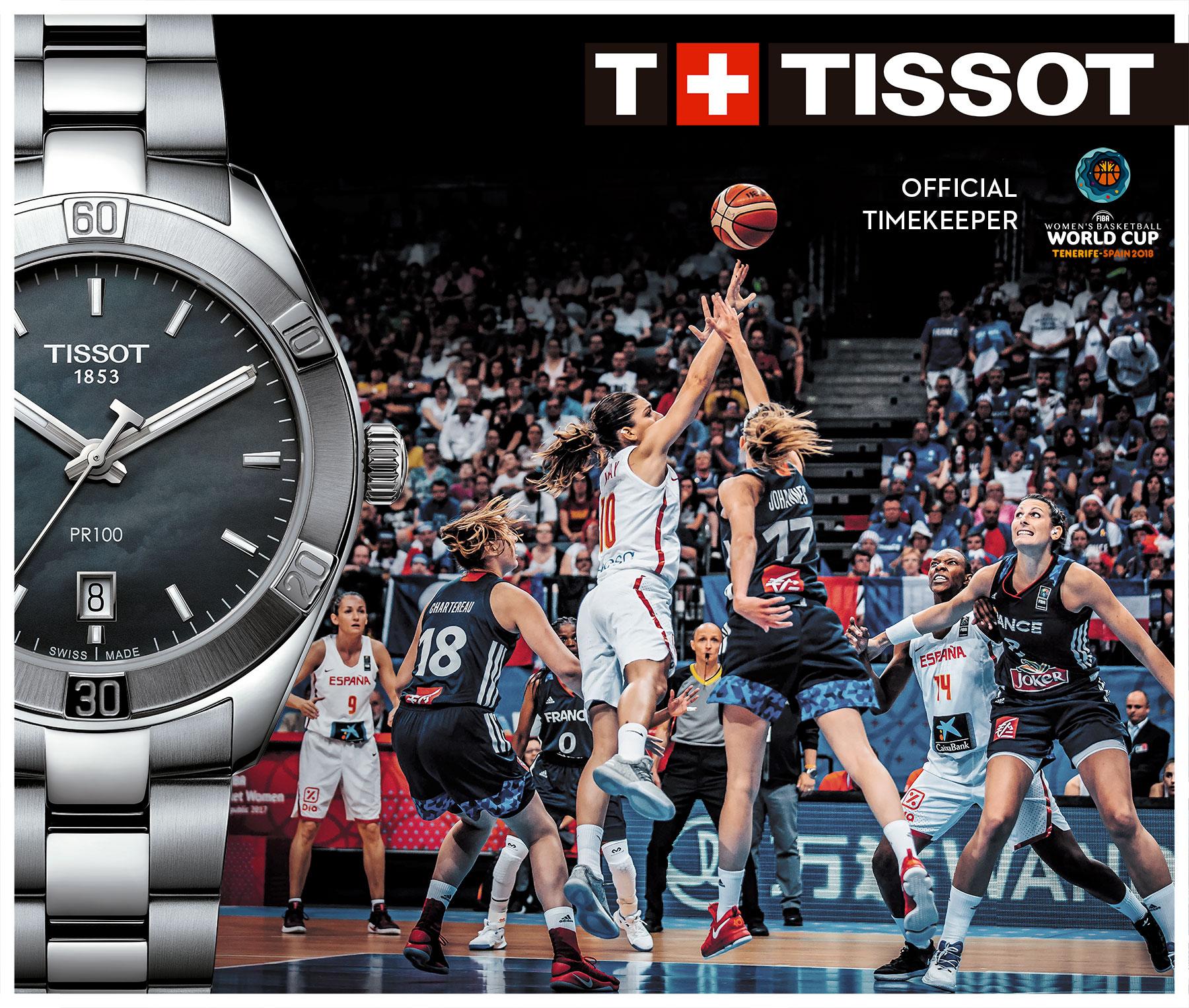 Arranca La Copa Mundial de Baloncesto Femenino 2018  con Tissot como Cronometrador Oficial