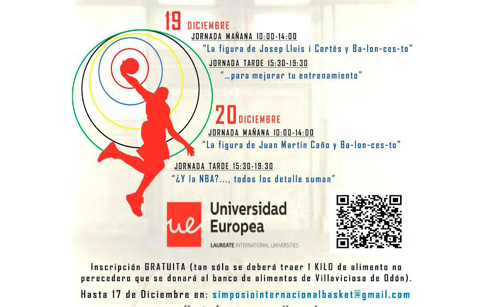 Programa II Simposio Internacional Solidario de Baloncesto. Universidad Europea de Madrid