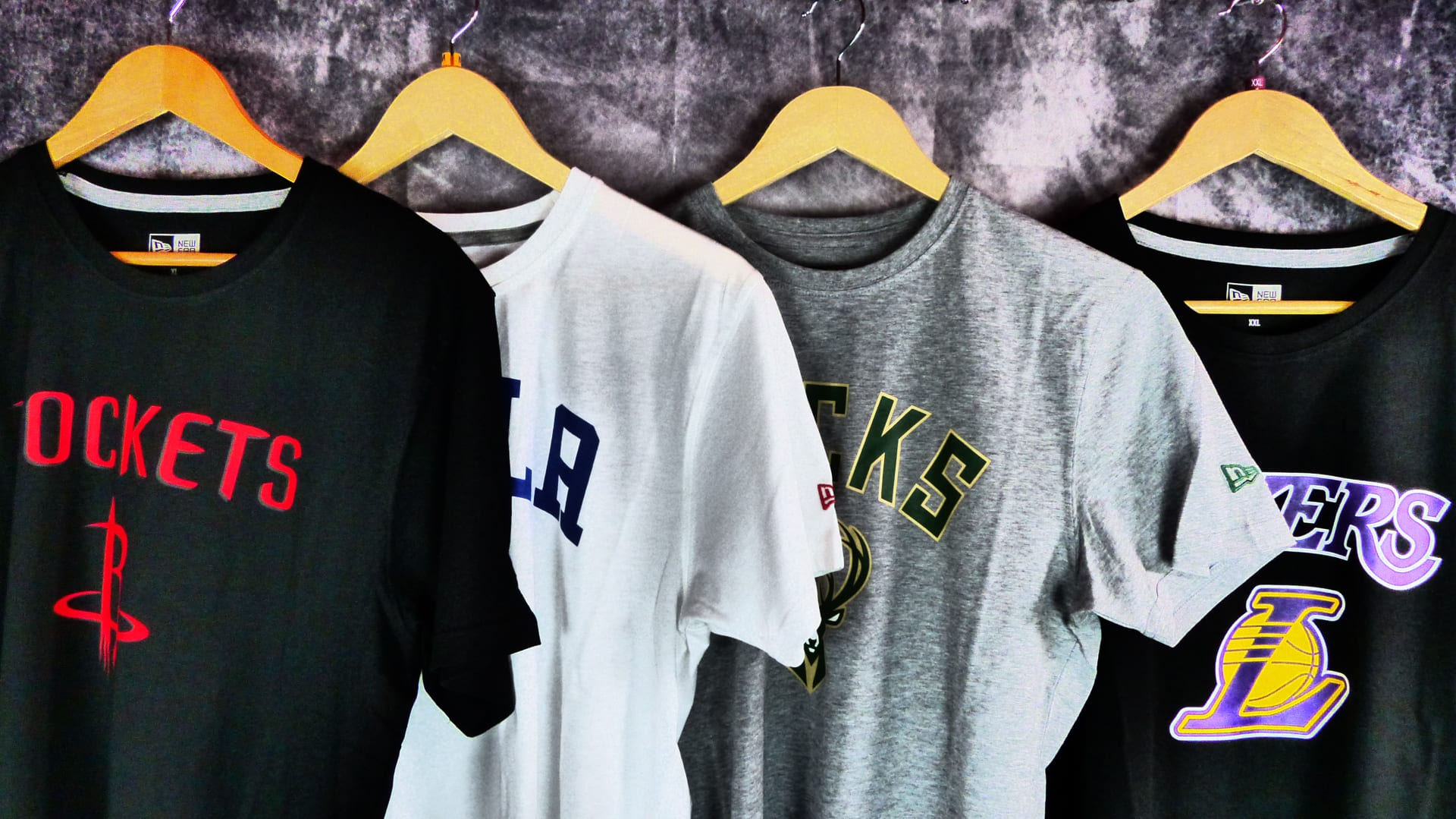 Camisetas manga corta NBA. New Era.