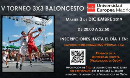 V Torneo 3×3 Solidario Baloncesto. Pre-Navidad. Universidad Europea. Villaviciosa de Odón. Madrid. 3 de Diciembre 2019