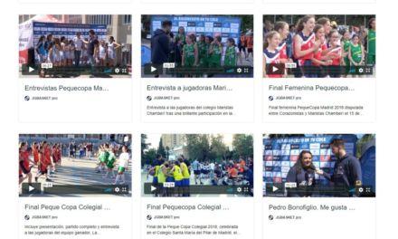 Colecciones videos #PequeCopaColegial Madrid 2013-2019 en Youtube y Vimeo.