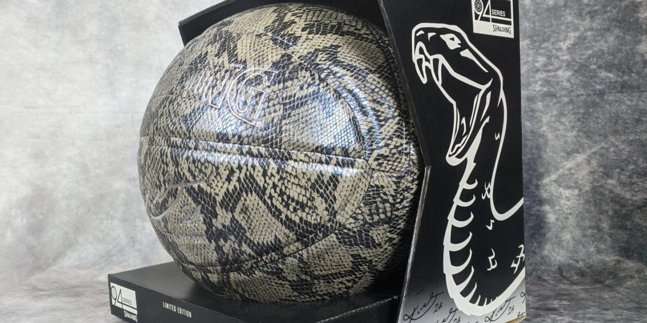 Balón de baloncesto para coleccionistas: Kobe Silver Snake Skin de Spalding