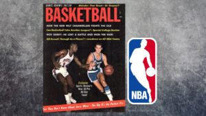 Sports Review Basketball 1967/68. Foto Jerry West. Logo NBA