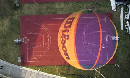 Nuestro balón de 3×3 y a tocar el cielo. Wilson 3c3 balón oficial juego FIBA