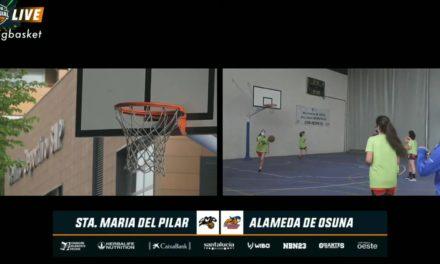 Santa María del Pilar vs Alameda Osuna Fem. 1/8 final Copa Colegial Madrid. Partido completo