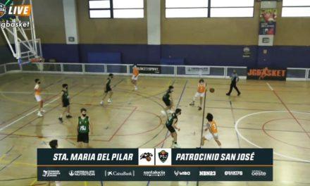 Santa María del Pilar vs Patrocinio San José. 1/8 final Copa Colegial Madrid 2021. Partido completo