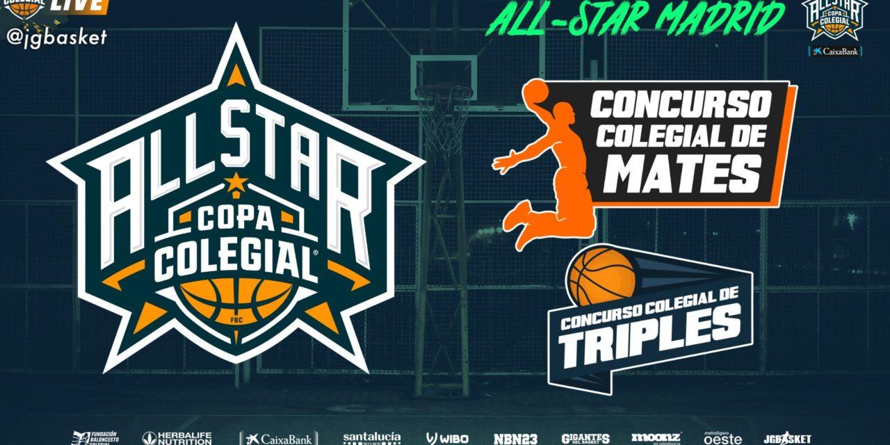 Live Streaming All-Star Copa Colegial Madrid. JOYFE. Viernes 18:00 horas.