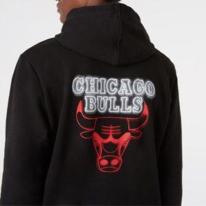 Hoddie Capucha Chicago Bulls. Neón. New Era. Sudaderas NBA. Otoño 2021